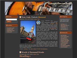 Wordpress Template Gitarren Blog