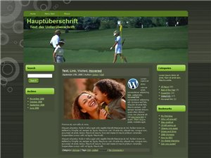 Golf in Gratis Blog Vorlage Golf Blog mit Wordpress