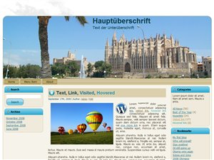 Mallorca in Mallorca Homepage Vorlage für Wordpress