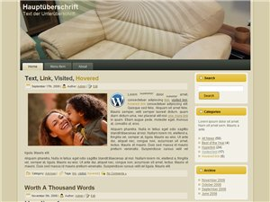 Moebel in Möbel Blog Homepage Vorlage Wordpress Template