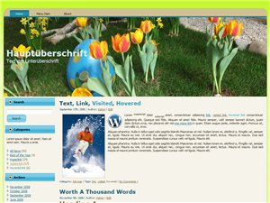 Ostern Blog Homepage Vorlage WordPress Template