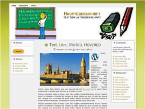 Schule Blog Homepage Vorlage Wordpress Template