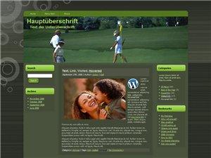 Gratis WordPress Template Golf Blog