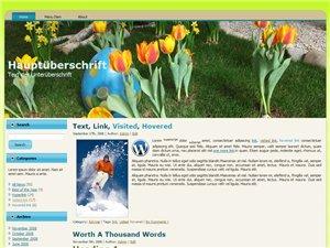 Ostern Blog Homepage Vorlage WordPress Template